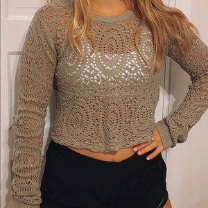 Green Lace Sweater